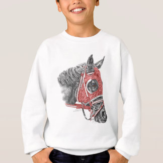 Sedas del retrato del caballo de raza remera