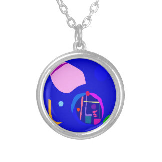 Sedate Clock Cherry Petal Fortune Telling Round Pendant Necklace