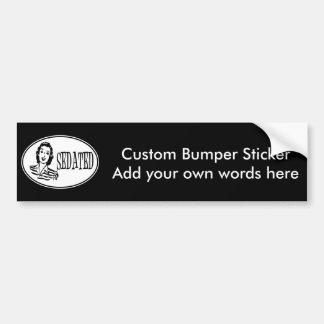 Sedated Retro Housewife Bumper Sticker