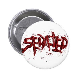 Sedated Splatter Line Pinback Button