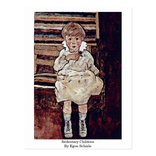 Sedentary Children By Egon Schiele Postcard