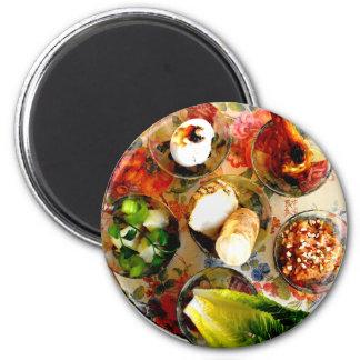 Seder Plate 2 Inch Round Magnet
