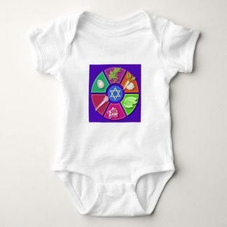 seder plate baby bodysuit