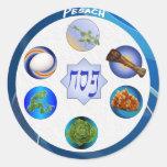 Seder Plate Classic Round Sticker