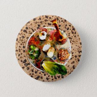 Seder Plate & Matzah Pinback Button