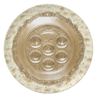 Seder Plate on Matzoh Charger