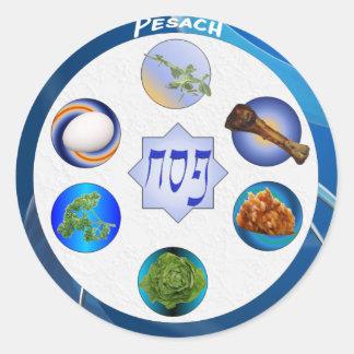 Seder Plate Round Stickers