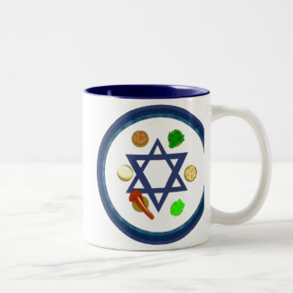 Seder Plate Two-Tone Coffee Mug