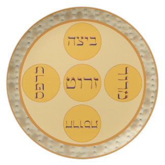 Seder Plate with Matzoh Border