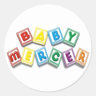 Sedero del bebé pegatina redonda