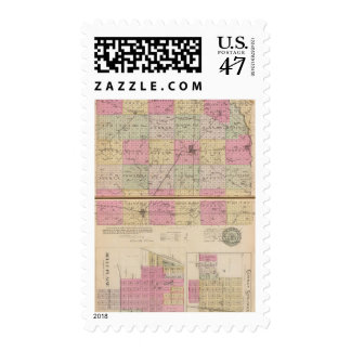 Sedgwick County, Conway and Belle Plaine, Kansas Postage