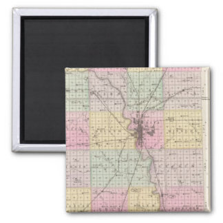 Sedgwick County, Mount Hope, and Derby, Kansas 2 Inch Square Magnet