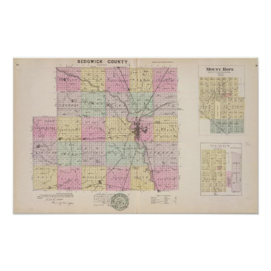 Sedgwick County, Mount Hope, and Derby, Kansas Poster