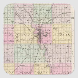 Sedgwick County, Mount Hope, and Derby, Kansas Square Sticker