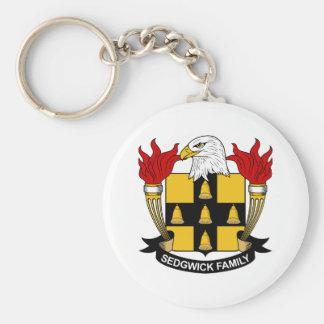 Sedgwick Family Crest Basic Round Button Keychain
