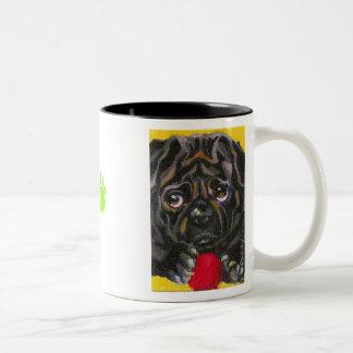 Sedighan's Pugsly Two-Tone Coffee Mug