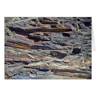 Sedimentary Rocks in mountains background Card