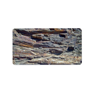 Sedimentary Rocks in mountains background Custom Address Label