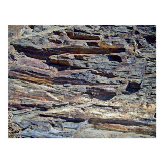 Sedimentary Rocks in mountains background Post Cards
