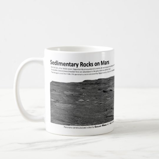 Sedimentary Rocks on Mars II - Cross Bedding Coffee Mug