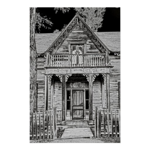 Sedman Home Porch - Nevada City Montana Ghost Town Poster