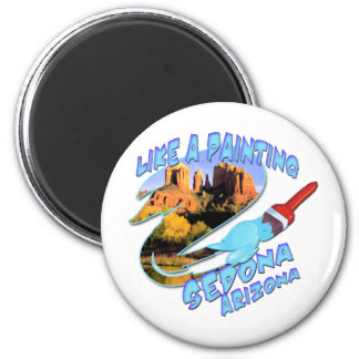 Sedona Arizona 2 Inch Round Magnet