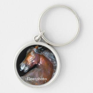 Sedona Arizona Horse Art Silver-Colored Round Keychain