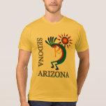 Sedona Arizona Kokopelli con el oro de Sun Playera