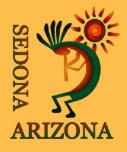 Sedona Arizona Kokopelli con el oro de Sun Playeras