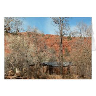 Sedona Arizona Ridge (espacio en blanco) Tarjeta Pequeña