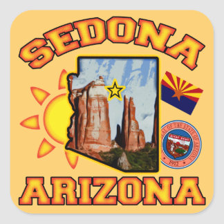 Sedona, Arizona Square Sticker