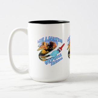 Sedona Arizona Two-Tone Coffee Mug