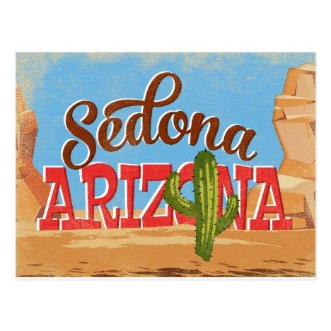Sedona Arizona Vintage Travel Postcard