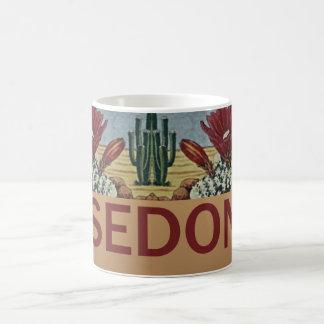 Sedona Arizona y cactus Taza De Café