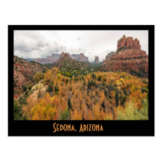 Sedona Fall Color in Arizona Postcard
