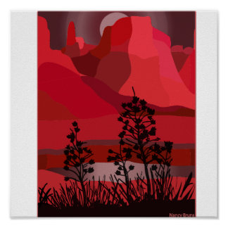 Sedona Heart Rock Poster