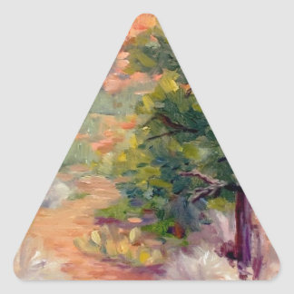Sedona Morning Path Triangle Sticker