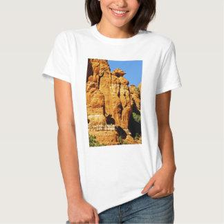 Sedona Mountain landscape alien statue T Shirt