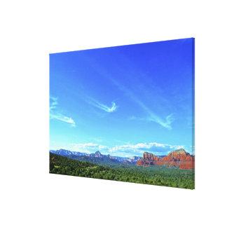 Sedona Mountain landscape angel clouds arriving Canvas Print