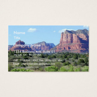 Sedona Mountains Business Card
