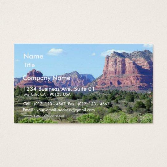 Sedona Mountains Business Card