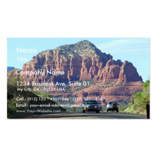 Sedona Mountains Car Road Business Card