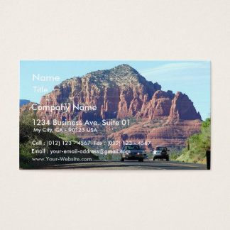 Sedona Mountains Car Road Business Card