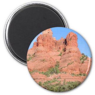 Sedona Mountains Red 2 Inch Round Magnet