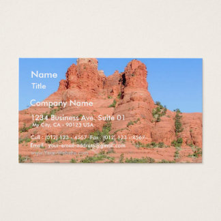 Sedona Mountains Red Business Card