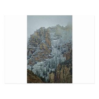Sedona Mountains snow storm Postcard