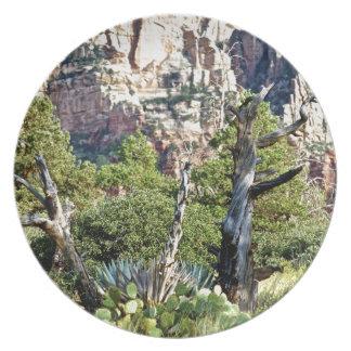 Sedona Mountains trails Plate