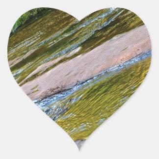 Sedona Oak Creak Heart Sticker