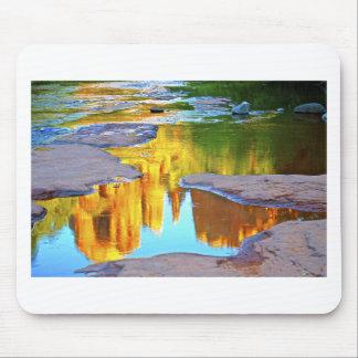 Sedona Oak Creak reflections of Cathedral Rock Mouse Pad