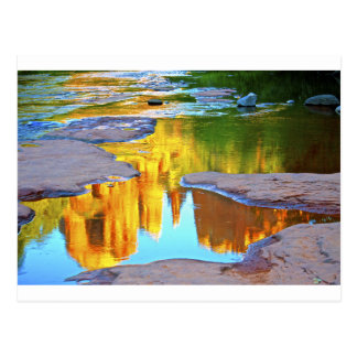 Sedona Oak Creak reflections of Cathedral Rock Postcard